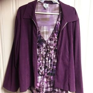 Briggs New York purple blazer w/blouse